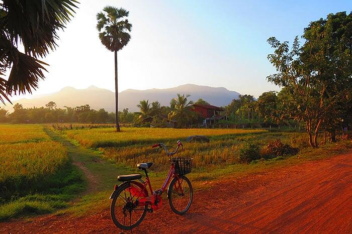 vélo Laos Champassak
