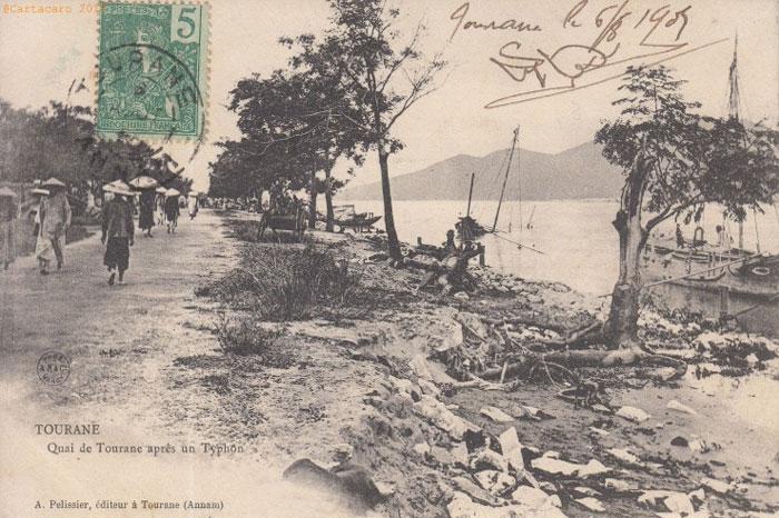 Tourane Vietnam apres typhon