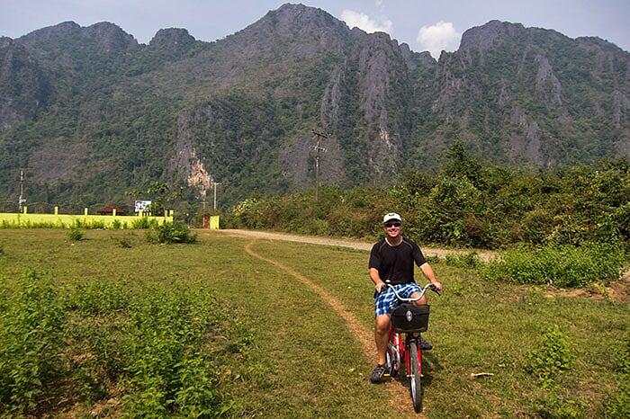 vélo Laos Vang Vieng