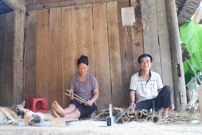 village encens Phia Thap decoupage