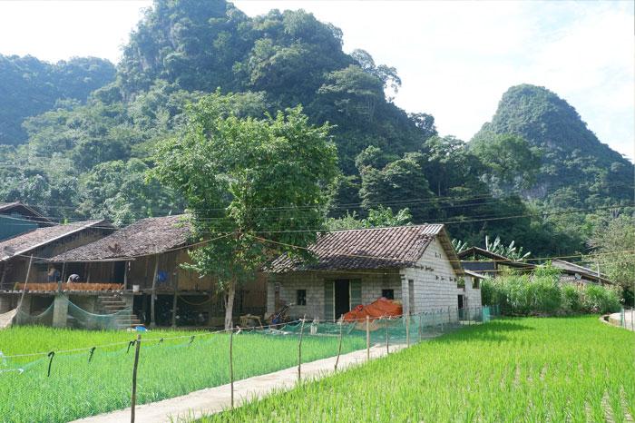 village encens Phia Thap panorama