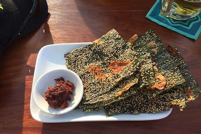 cuisine laotienne atypique algues frites Mékong