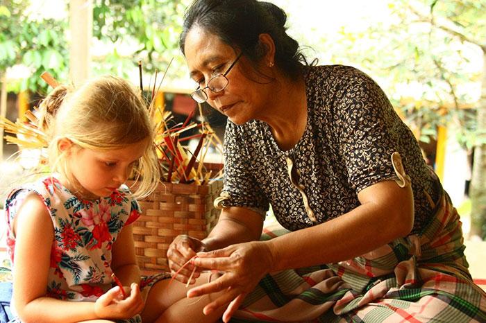 artisanat Laos travail de bambou