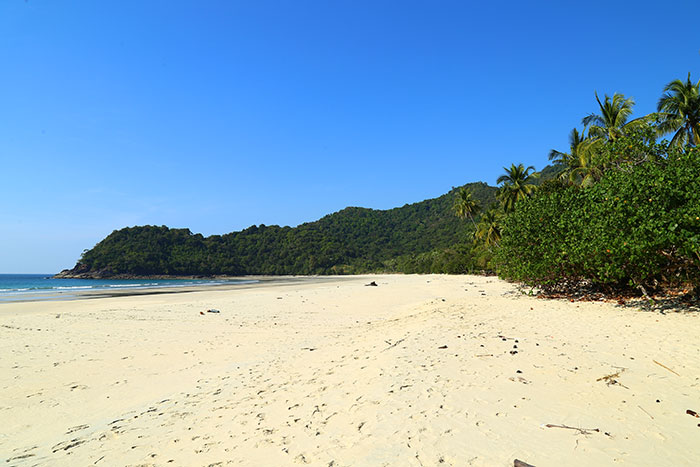 belle plage de Birmanie bungalow
