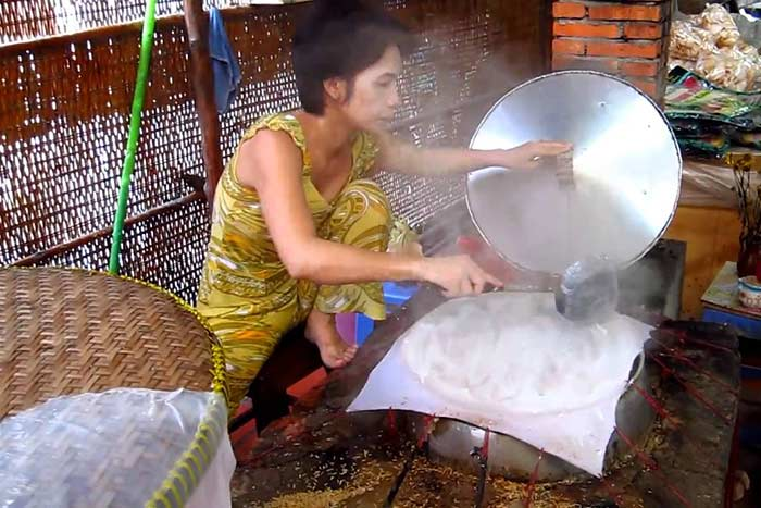 Ben Tre Vietnam top choses a faire fabrication feuille riz