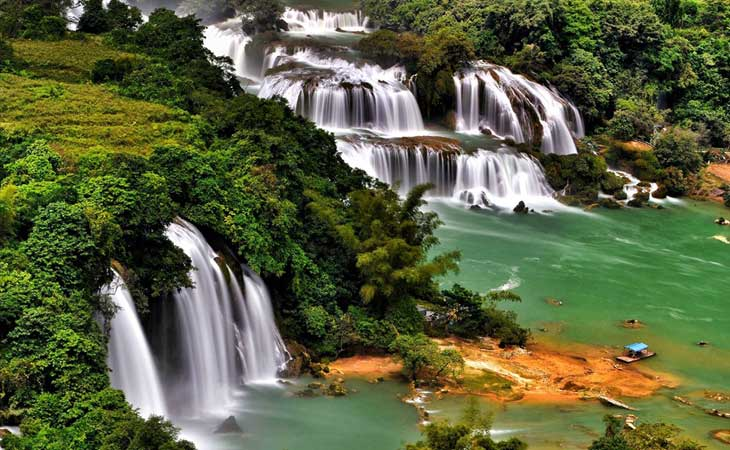 cascade ban gioc riviere