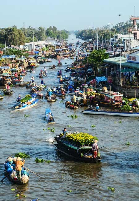 circuit vietnam 1 semaine marche flottant mekong