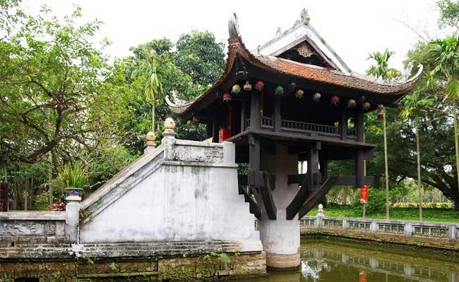 circuit vietnam 10 jours hanoi pagode pilier unique