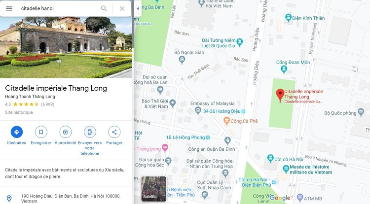cite imperiale thang long hanoi carte