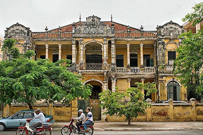 patrimoine architectural Cambodge colonie