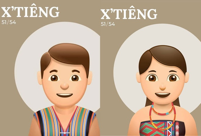 ethnie vietnam couple xtieng