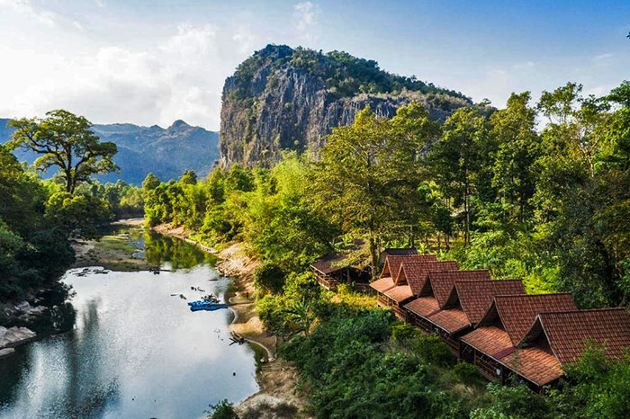 7 plus beaux ecolodges Laos Spring River Resort