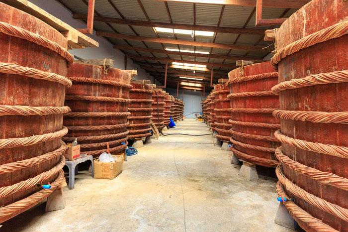 fabrication nuoc mam boite bois