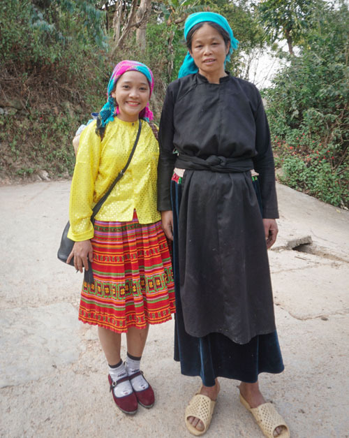 ha giang village ethnique habit femme
