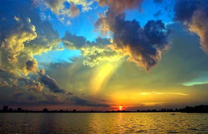 hanoi lac ouest coucher soleil