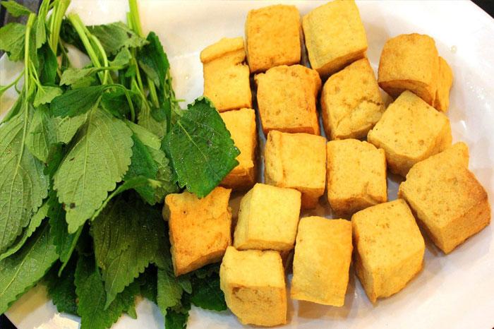 mam tom Vietnam tofu frit