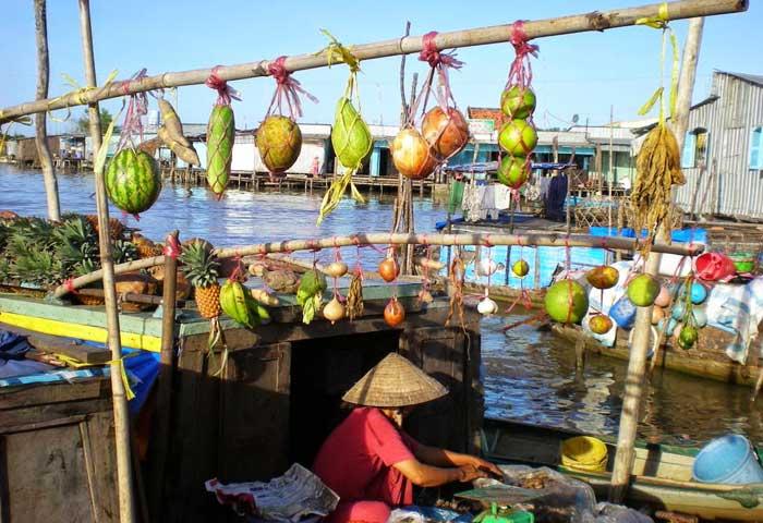 marche flottant cai rang mekong