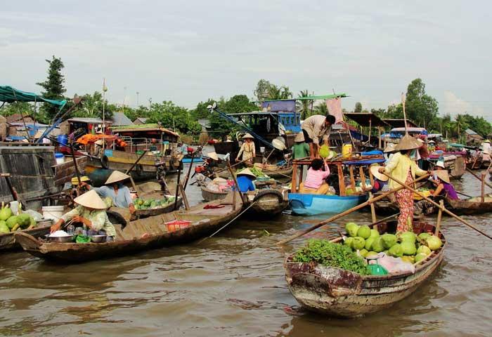 marche flottant nga nam mekong