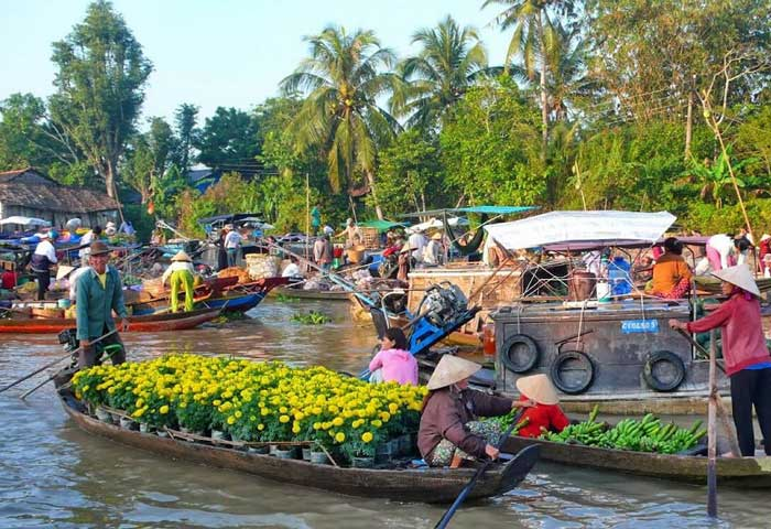 marche flottant phung hiep mekong
