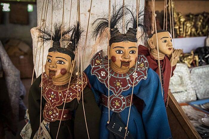 artisanat de Birmanie marionnette