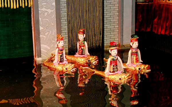marionnettes sur eau danse rurale hanoi