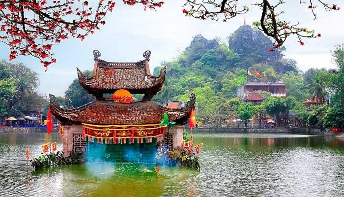pagode thay marionnettes sur eau