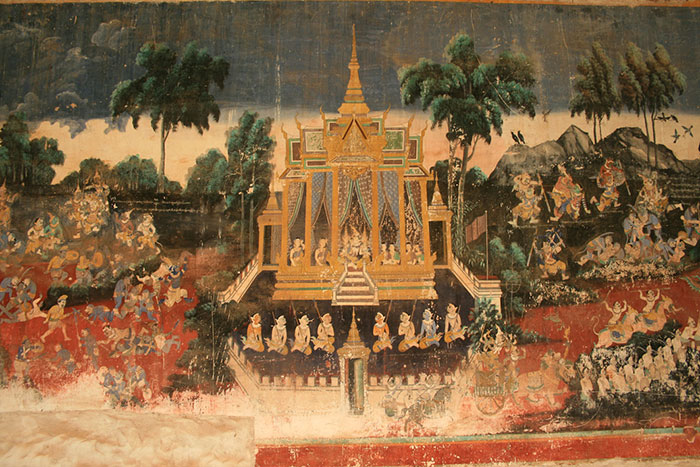 palais royal phnom penh fresque