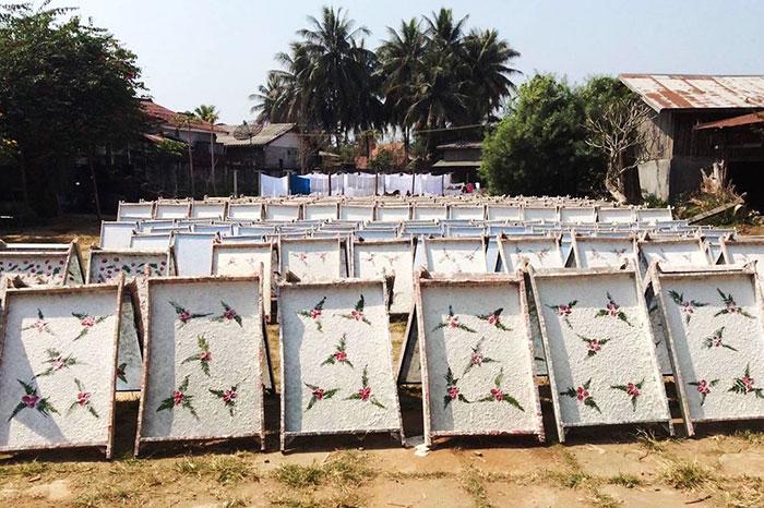 artisanat Laos papier saa
