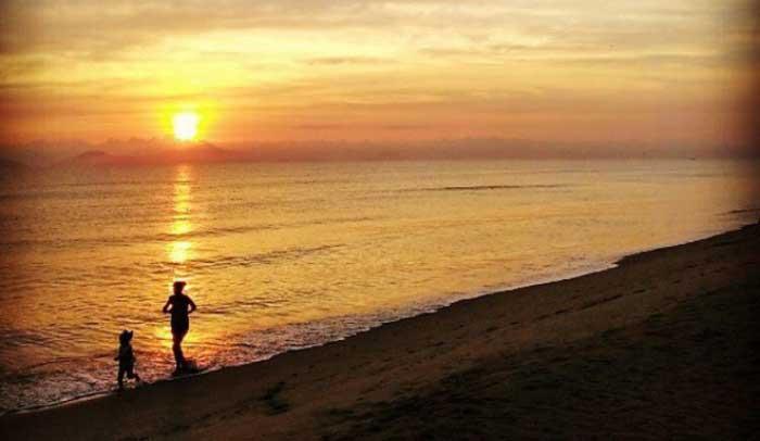 plage ha my coucher soleil