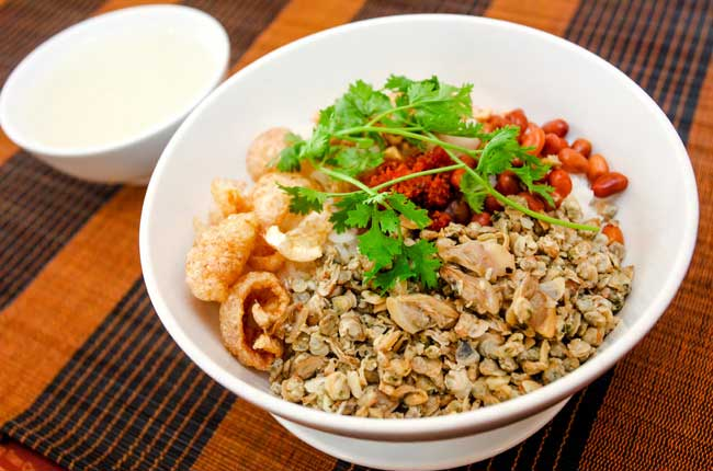plat vietnamien riz corbicule hue