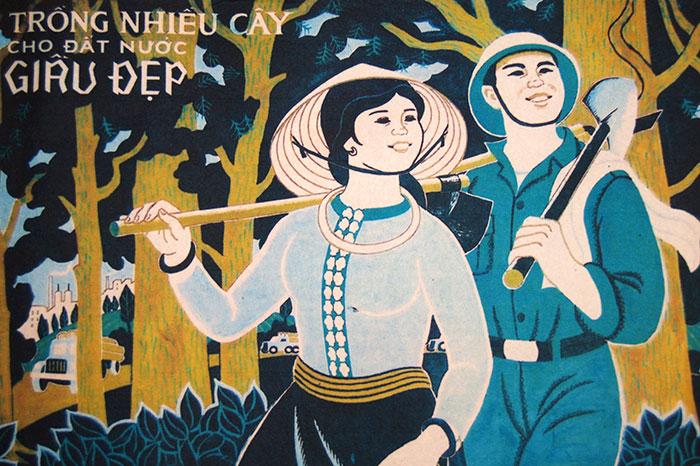idées souvenirs Vietnam Poster de propagande