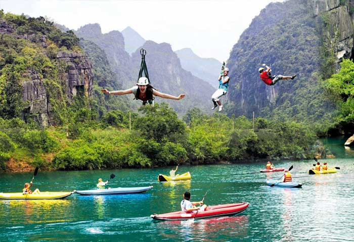 parc national phong nha ke bang kayak zipline