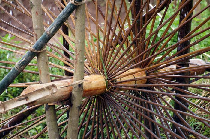 roue à eau Cao Bang axe