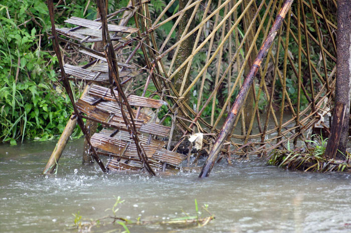 roue à eau Cao Bang bambou