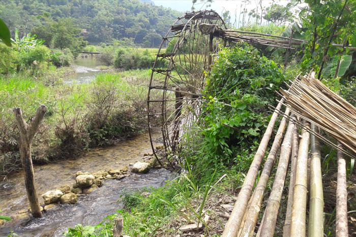 roue à eau Cao Bang rivière de Quay Son