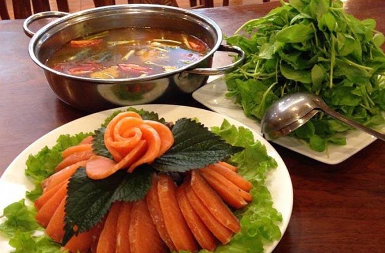 plats typiques de sapa fondue au saumon