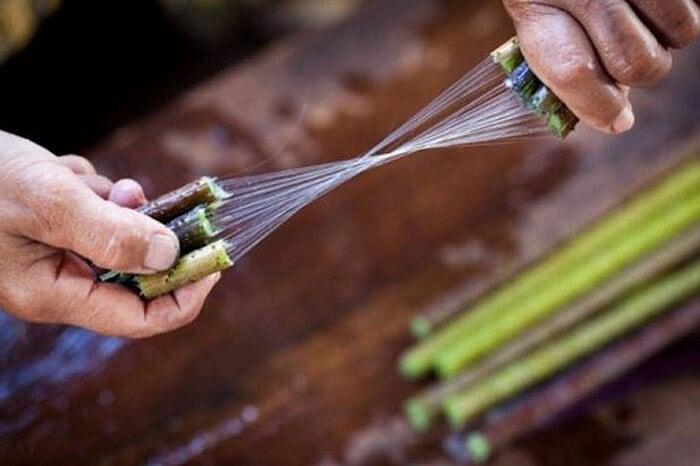 artisanat de Birmanie soie lotus
