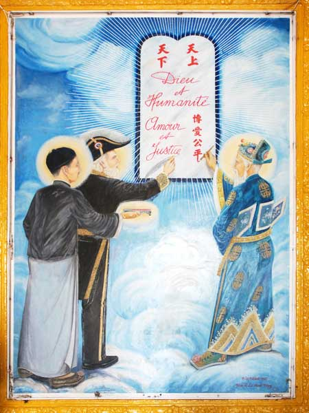 temple cao dai saints environs ho chi minh ville