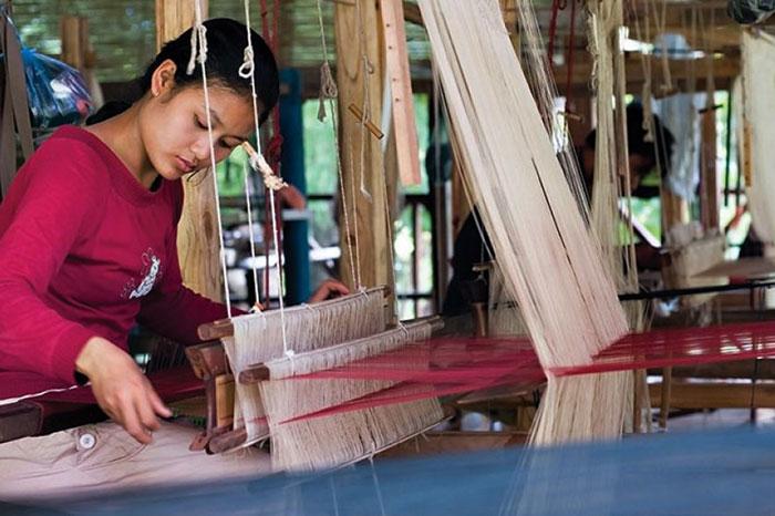 artisanat Laos tissage