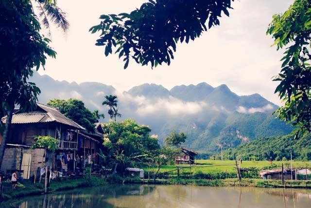 vallee mai chau village lac