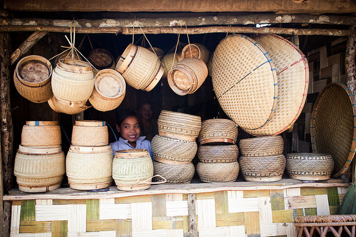 artisanat Laos vannerie