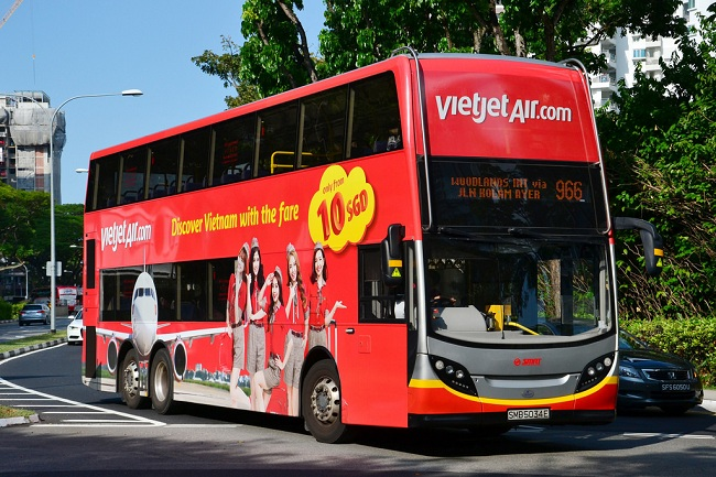 Vietjet Air bus aeroport hanoi centre ville
