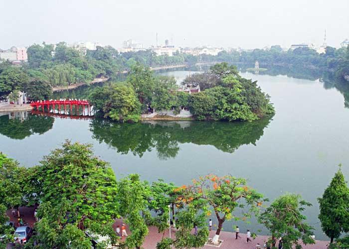 vieux quartier hanoi lac hoan kiem