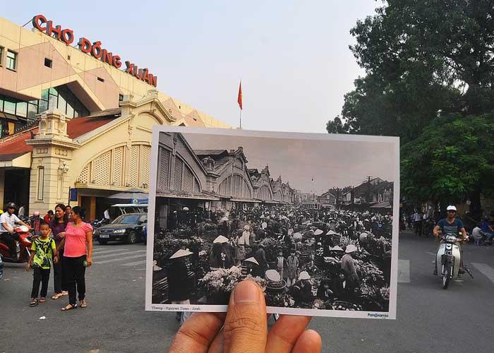 vieux quartier hanoi marche dong xuan