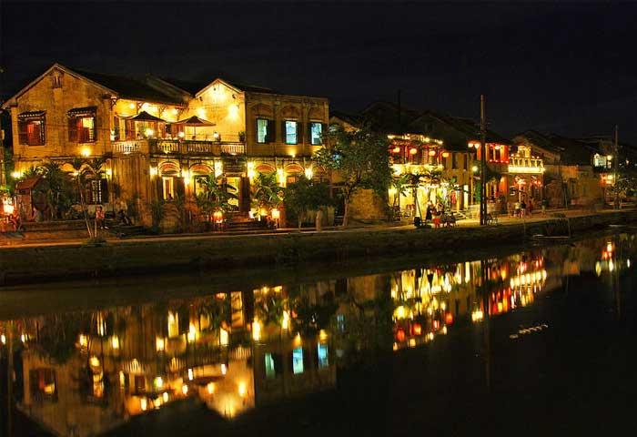 ville hoi an nuit lanternes