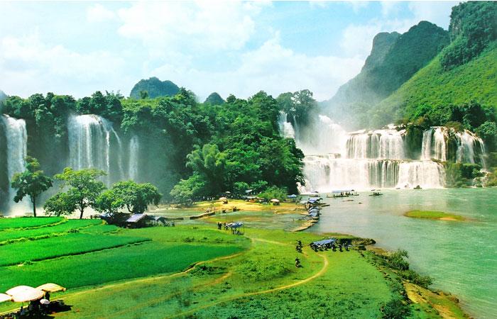 visiter cao bang geoparc mondial cascade