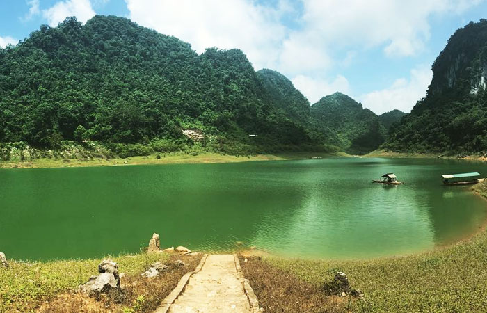 visiter cao bang geoparc mondial lac