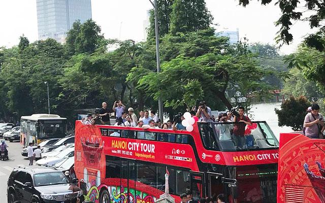 visiter hanoi bus ouvert double etage lac hoan kiem
